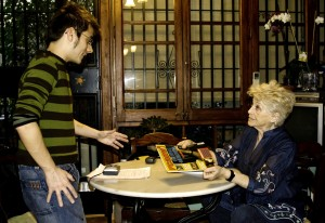 Un instant previ a l'entrevista a la llar de 'La Carulla'