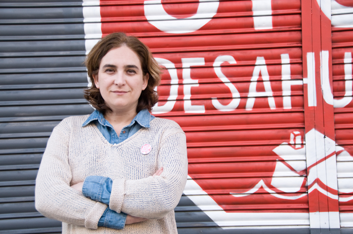 Ada Colau, davant la seu de la PAH de Barcelona / Ana Inés Fernández