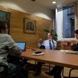 Vives, en un moment de l'entrevista concedida a Catalunya Plural / Enric Català